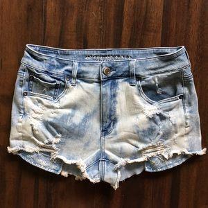 🆕✨American Eagle Hi-Rise Shortie Jean Shorts